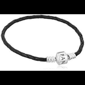 Pandora single black braided bracelet